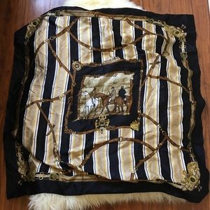 Vintage Accessories - ⚡️Vintage Oversized Silky Patterned Scarf